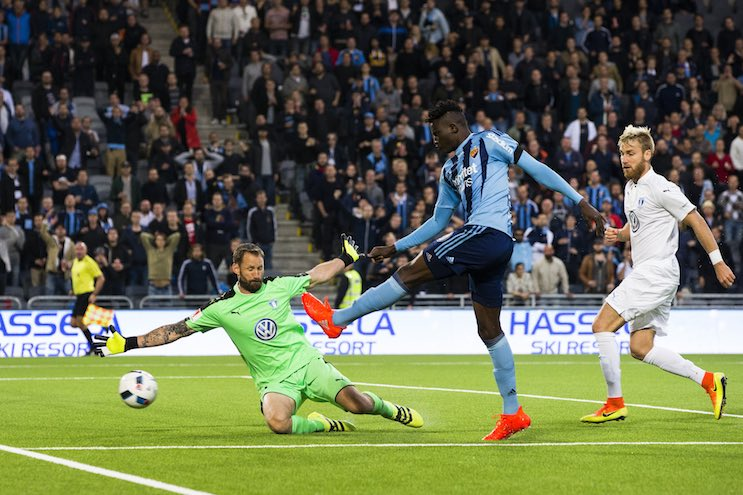 Olunga scores twice for Djurgardens in Sweden